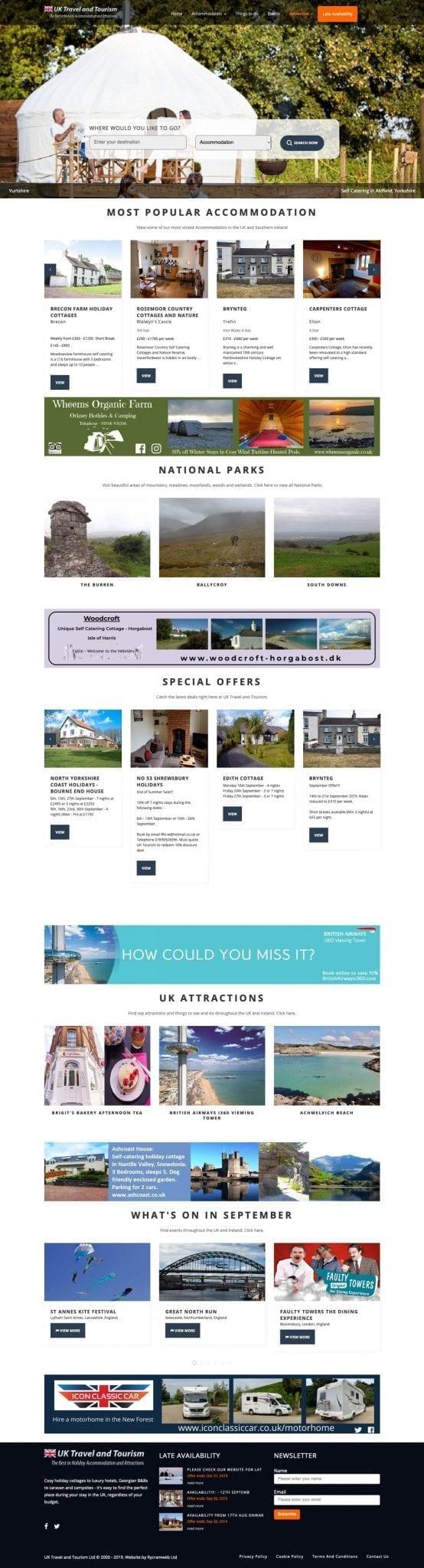 UK Travel and Tourism Desktop